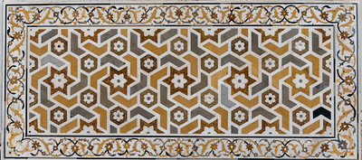 Mosaic of precious stones in marble, Itmad-ud-Dauluh, aka the Baby Taj.
