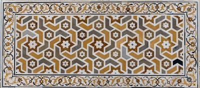 Mosaic of precious stones in marble, Itmad-ud-Dauluh, aka the Baby Taj.