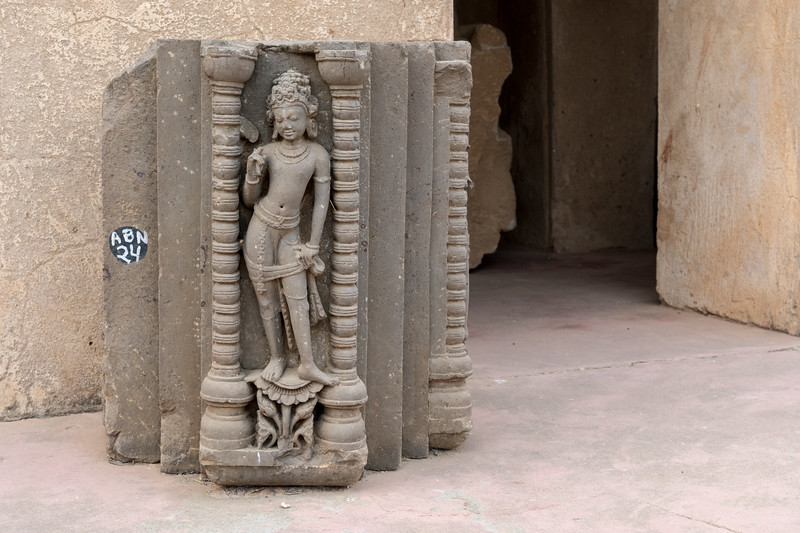 One of many carvings at Chand Baori step well.