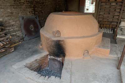 The kiln at the Blue pottery shop; Jaipur.