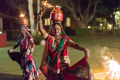 Rajasthani folk music and dance demonstration.