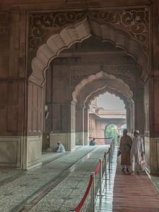 Interior corridor - Jama Masjid, Delhi.