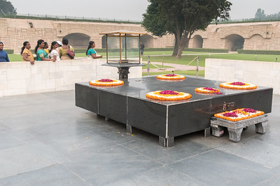 Raj Ghat - where Ghandi was buried - New Delhi.