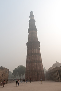 Qutb Minar in the Delhi smog.