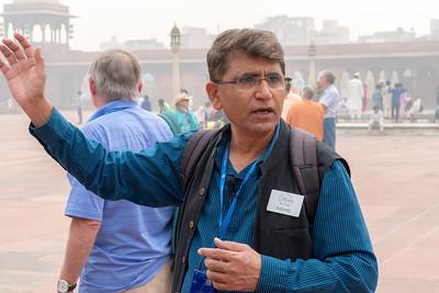 Our tour guide, Rashid, at Jama Masjid, Delhi.