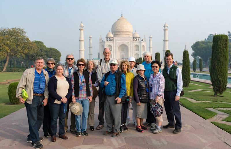 Dartmouth group at the Taj Mahal.