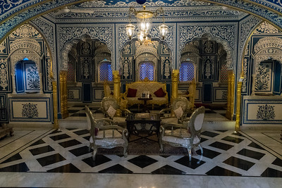 Interior of Shahpura Haveli, Rajasthan.