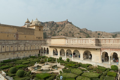 Gardens at Amber Fort, Jaipur.