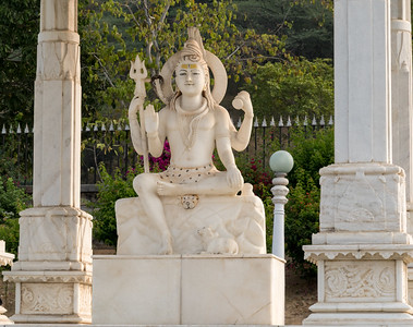 Shiva statue at Birla temple, Jaipur.