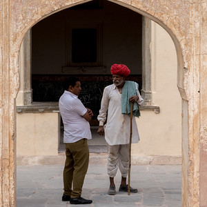 Visitors to Amber Fort, Jaipur.
