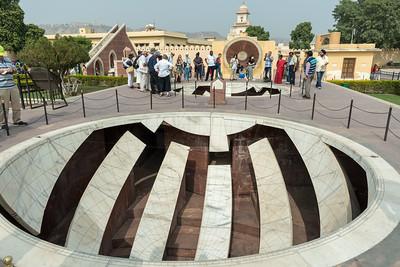A sundial  at Jantar Mantar observatory - Jaipur.