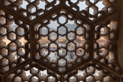 Screens overlooking the Diwan, Amber Fort, Jaipur.