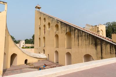 A huge sundial at Jantar Mantar observatory - Jaipur.
