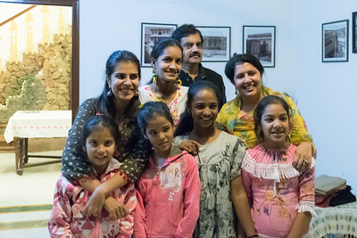 The kind family of Smirti and Surendar Singh, who hosted the Dartmouth group for dinner.
