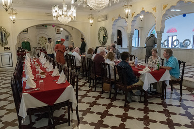 Lunch at Shahpura Haveli, Rajasthan.