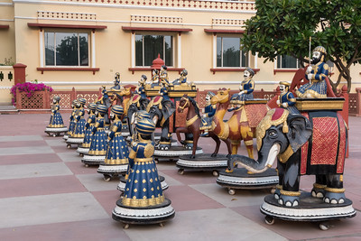Life-size chess board at Taj Jai Mahal Palace, Jaipur.