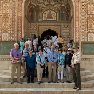 Dartmouth group photo - Amber Fort, Jaipur.