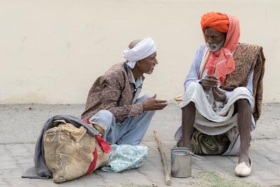 Two elderly men in Jaipur.