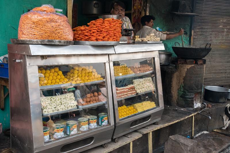 Sweets vendor, village of Lalsot, Rajasthan.