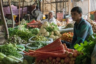Vegetable market, village of Lalsot, Rajasthan.