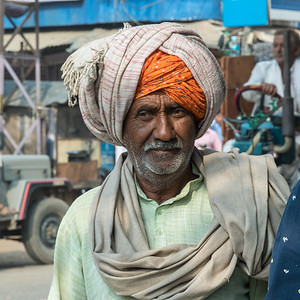 A man passing by our group, village of Lalsot, Rajasthan.