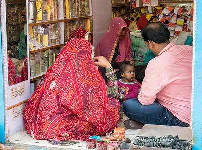 Bangle shop in Shahpura, Rajasthan.
