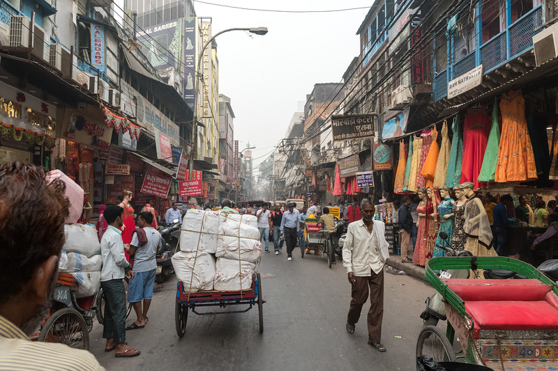 Streets of Old Delhi.