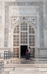 Mausoleum entrance, Taj Mahal.