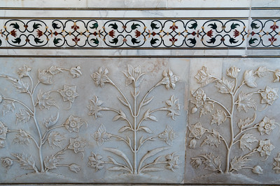 Beautiful inlay work at Taj Mahal.
