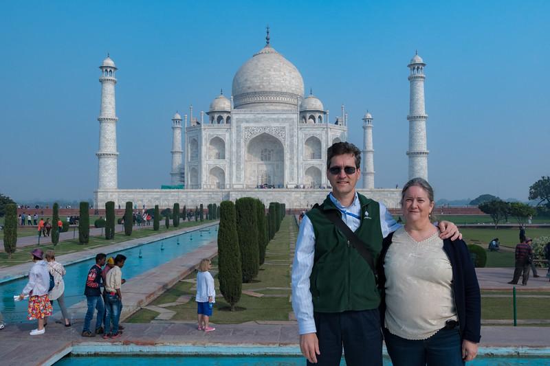 David and Pam at the Taj Mahal.