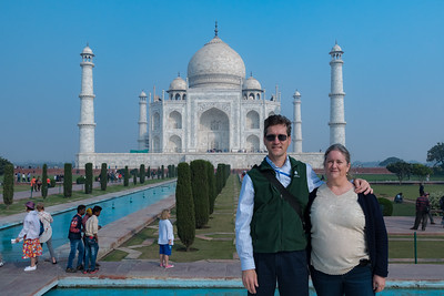 David and Pam at the Taj Mahal.