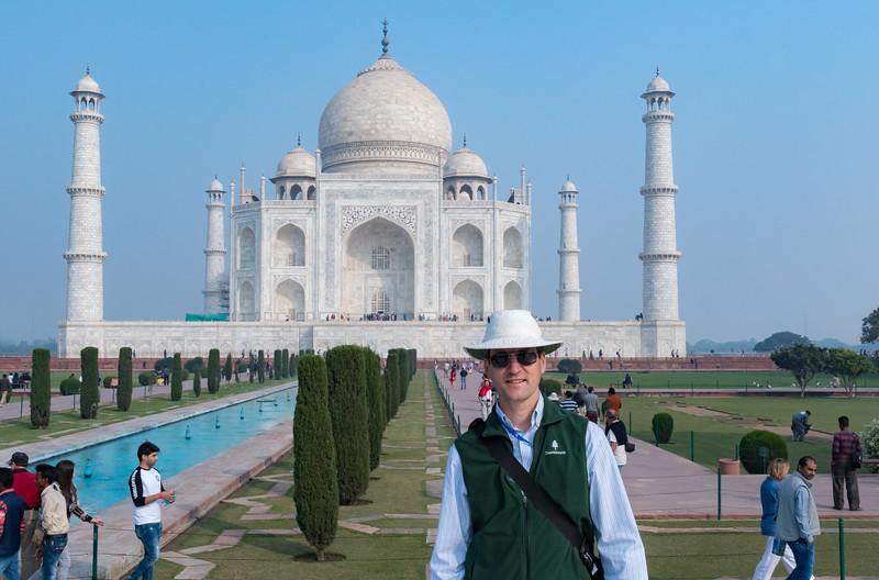 David at the Taj Mahal.