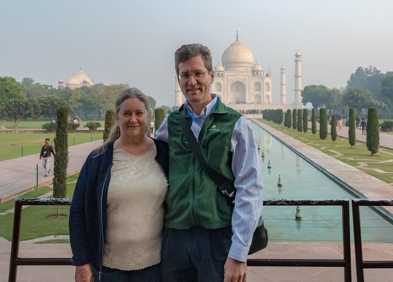 Pam and David at the Taj Mahal.