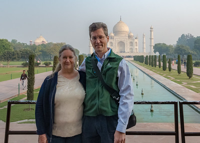 Pam and David at the Taj Mahal.