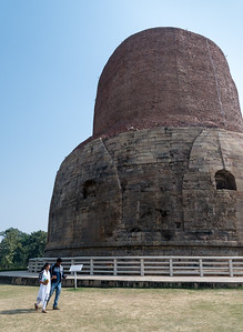 Dhamekh Stupa, said to house some of the bones of Buddha himself.