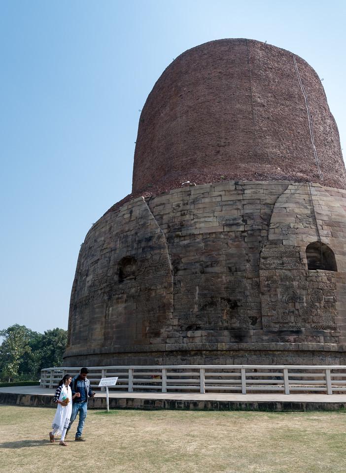 Dhamekh Stupa, said to house some of the bones of Buddha himself.