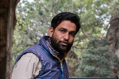 Pankaj, a naturalist, guides us in Ranthambore National Park.