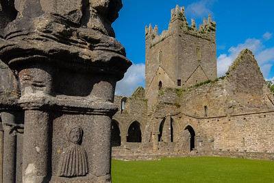 Example of some of the fine exterior carving at Jerpoint Abbey, which is what the site is most famous for.