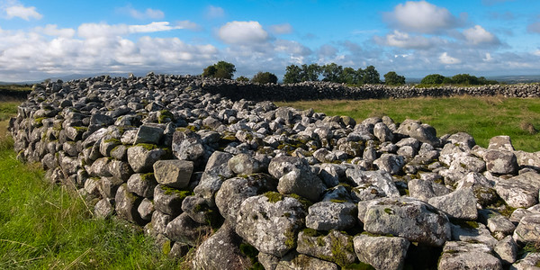 """View of the partially excavated Rathgall Stone Fort ring in """"Ireland's Ancient East"""" which has these things all over the place, most unexcavated."""