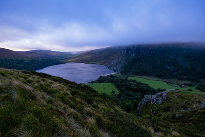 View of Lough Tay on the way to Glendolough.