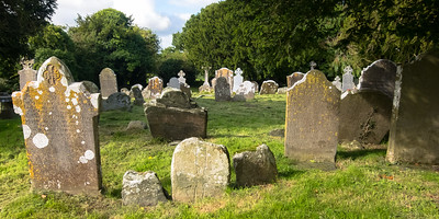 The graveyard at Aghowle Church, where local residents are still buried but there are headstones and celtic crosses dating back to the 14th century.