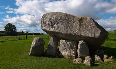 One of the largest portal tombs in Ireland, the Brown's Hill Dolmen is right out in a field right next to a main road.