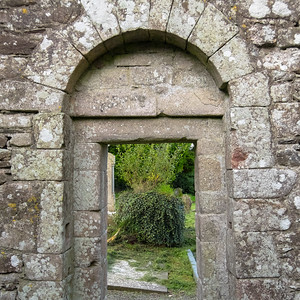 Doorway into the graveyard of Aghowle Midieval Church.