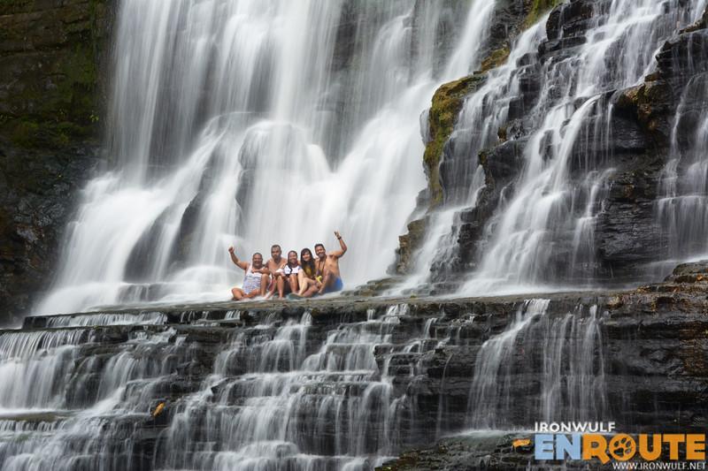The whole gang at the falls