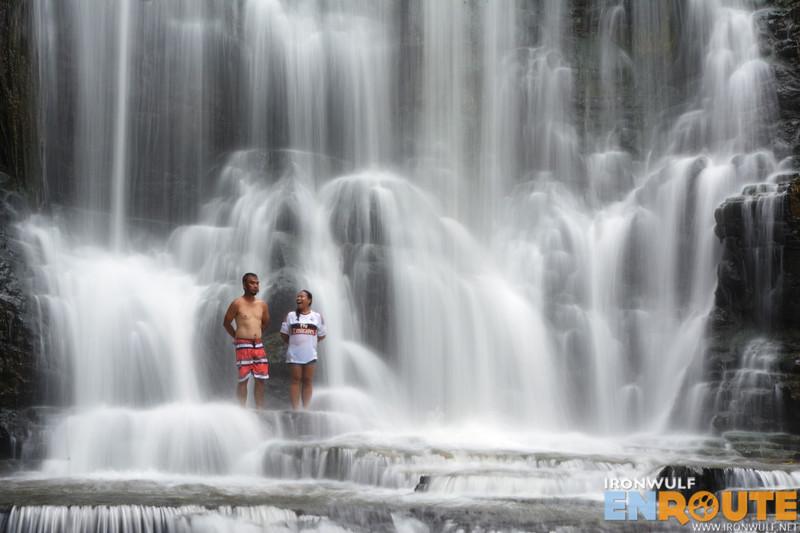 Marky and Tin enjoying the cascades