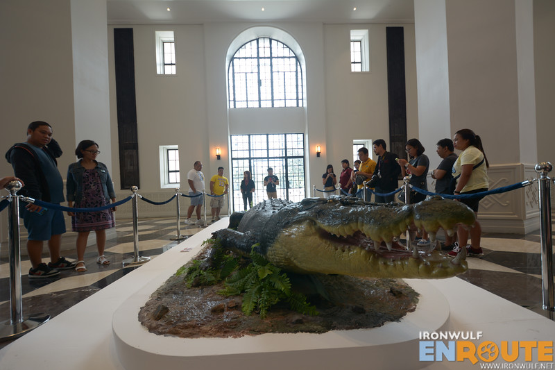 Life-size replica of Lolong