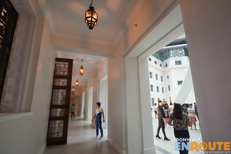 Courtyard hallway