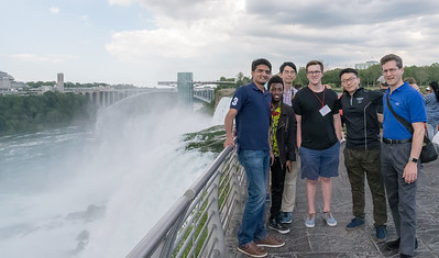 George Boateng, Varun Mishra, Rui Liu, Shengjie Bi, Taylor Hardin, and David Kotz - at Niagara Falls.