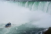 """The """"Maid of the Mist"""" approaches Niagara's Horseshoe Falls, as viewed from the Canadian side."""