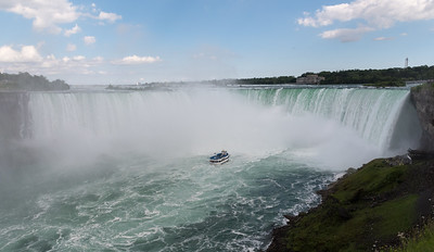 Niagara's Horseshoe Falls, as viewed from the Canadian side.